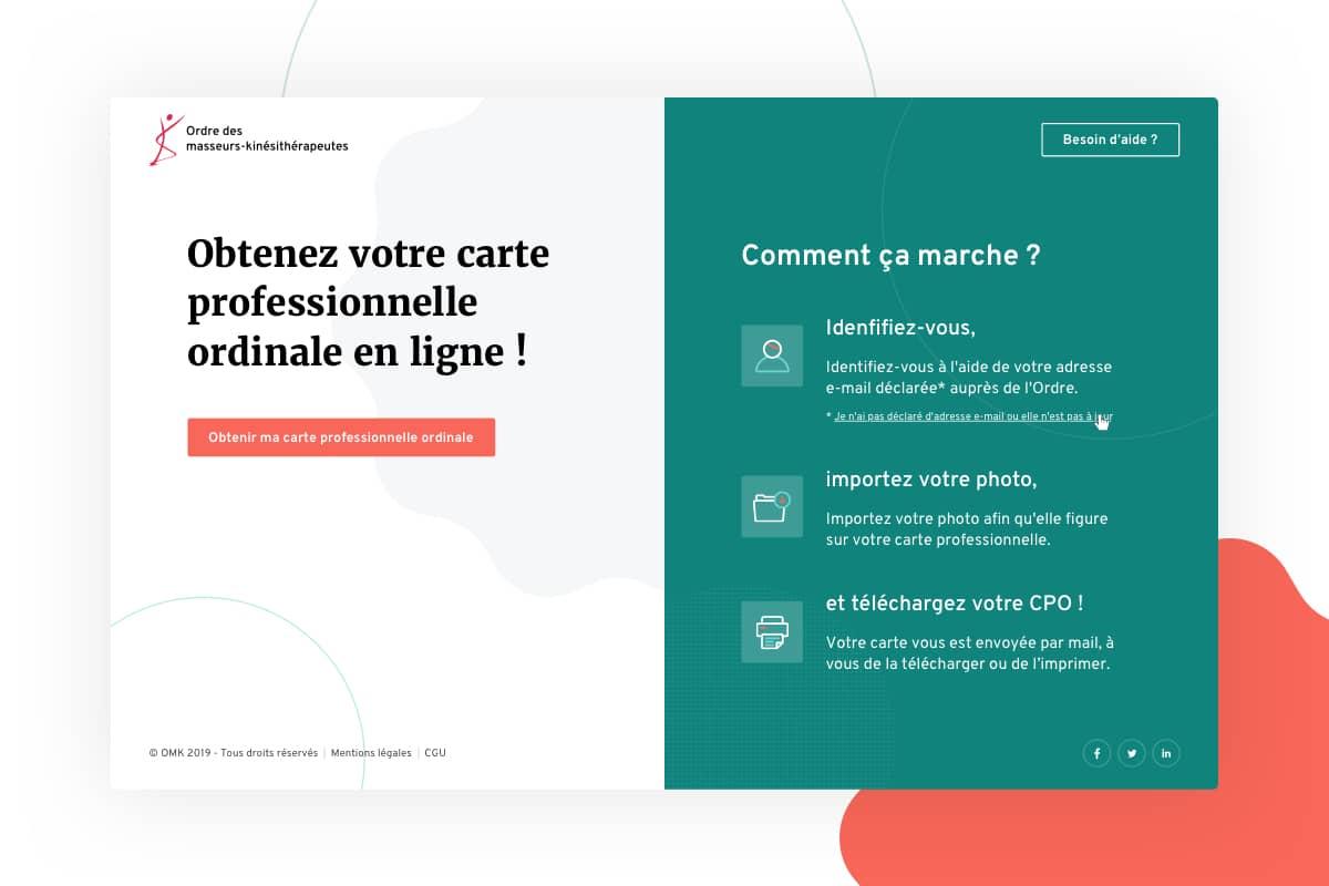 Ordre des Masseurs-Kiné par Agence Web Kernix