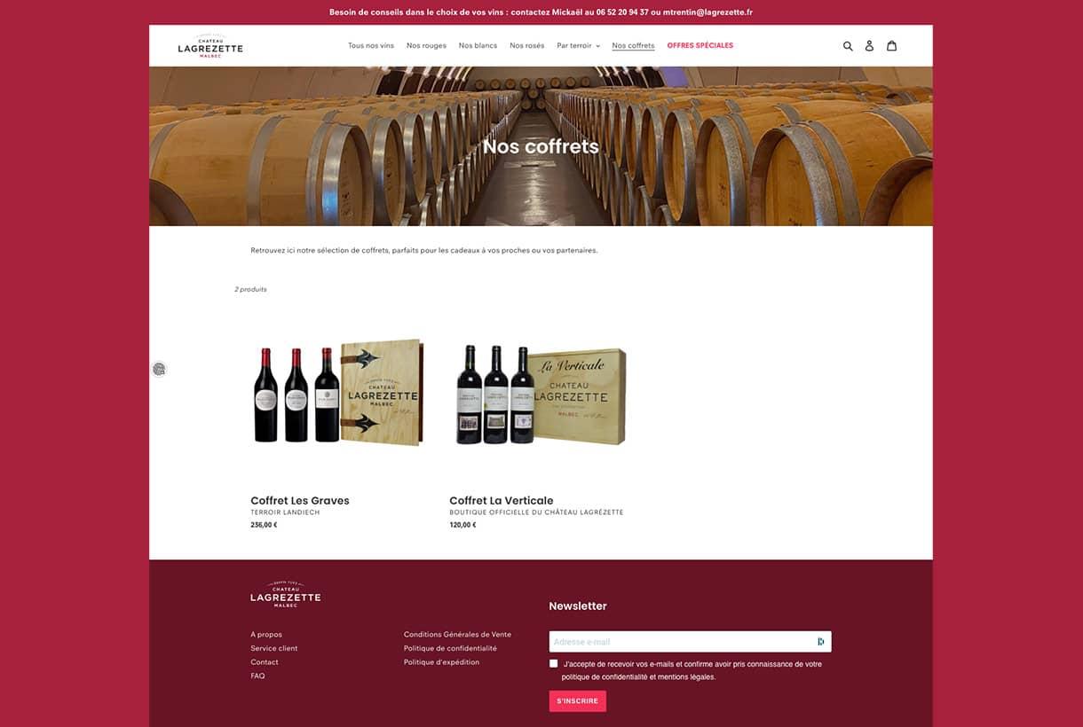 Château Lagrézette par Agence Web Kernix