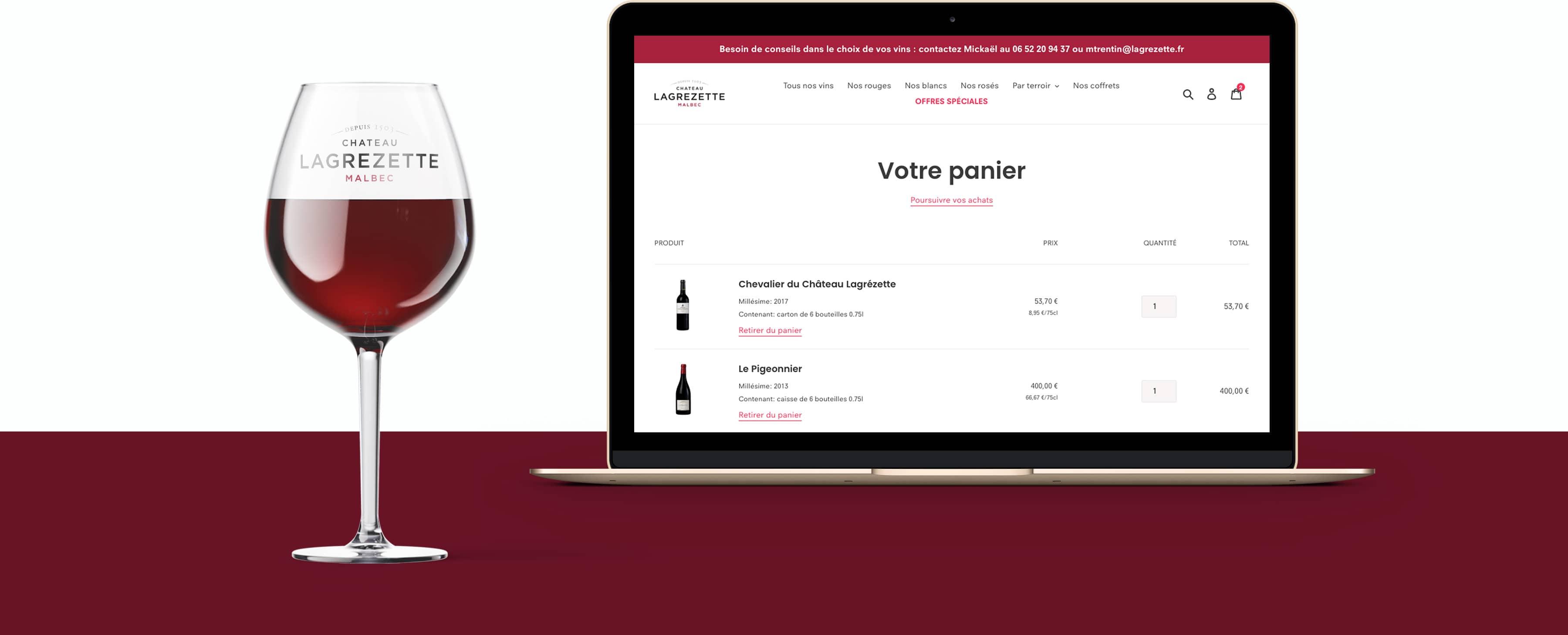 Château Lagrézette par Agence Web Kernix - Chateau-Lagrezette-Shopify-Kernix