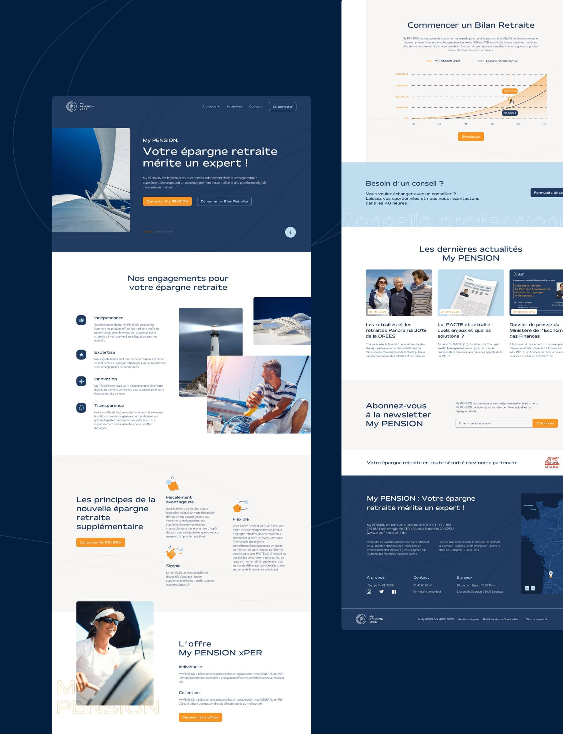 My PENSIONxPER par Agence Web Kernix