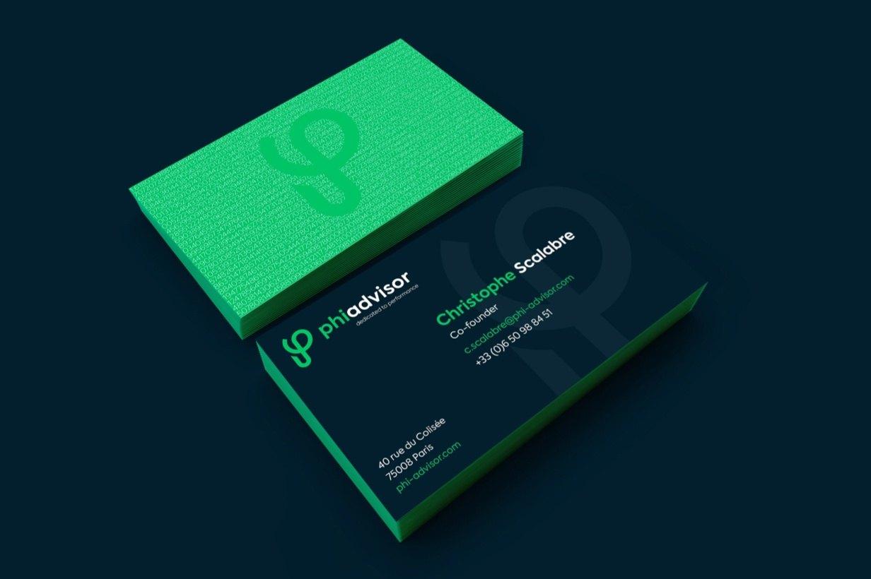 Phiadvisor par Agence Web Kernix - Cartes de visite