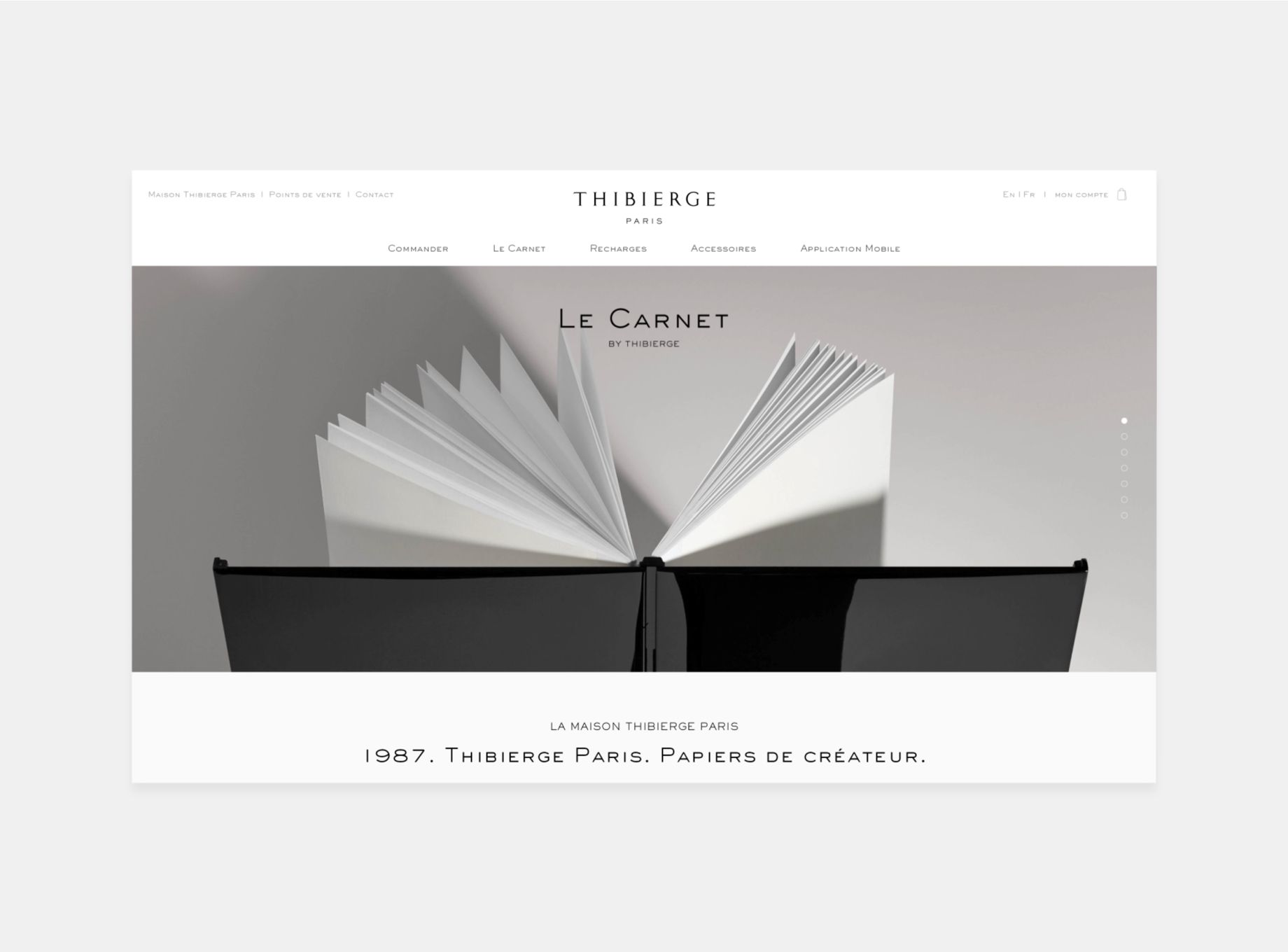 Thibierge Paris par Agence Web Kernix