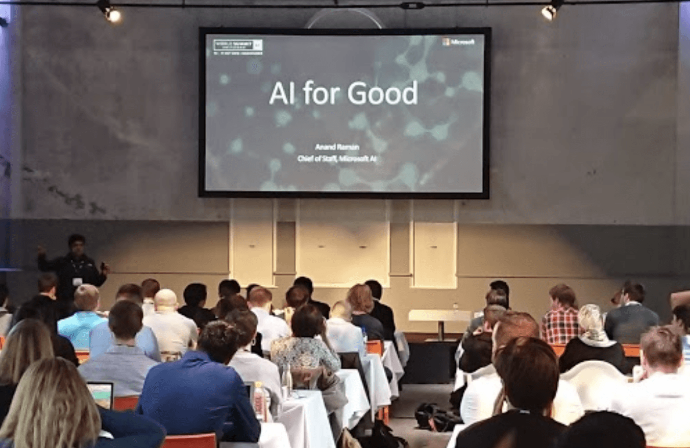 Anand Raman from @Microsoft in a workshop about AI for Good