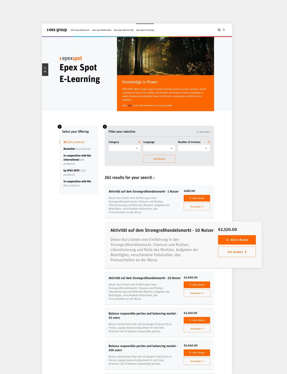 EEX Group Webshop par Agence Web Kernix
