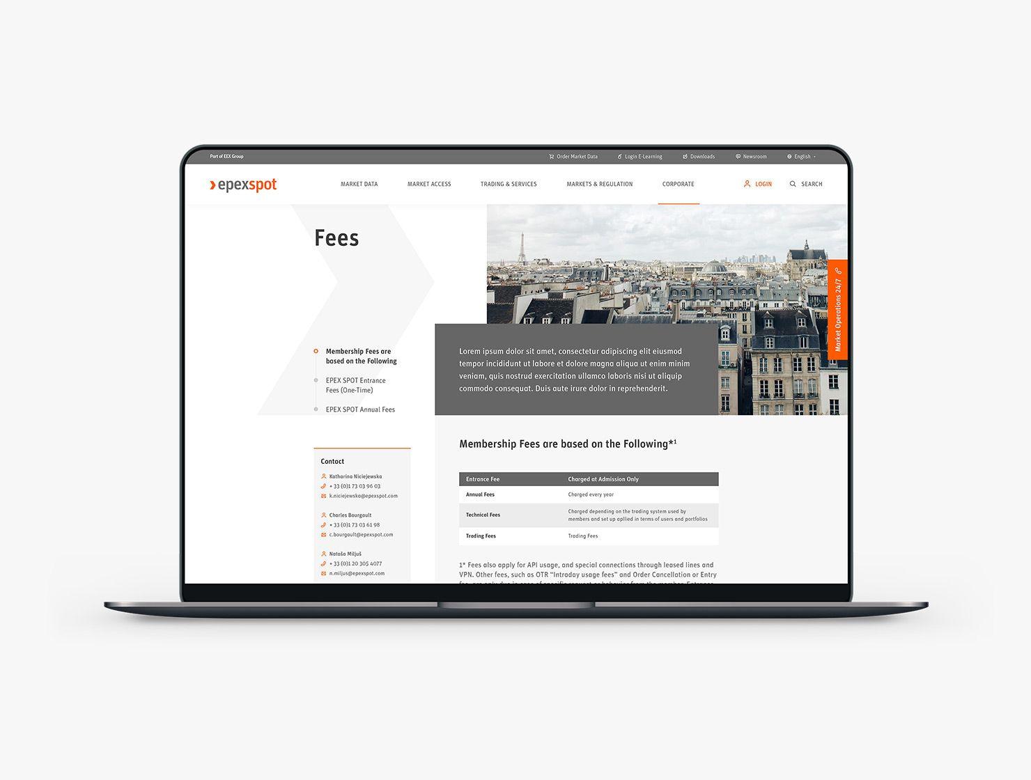 EPEX  Spot par Agence Web Kernix