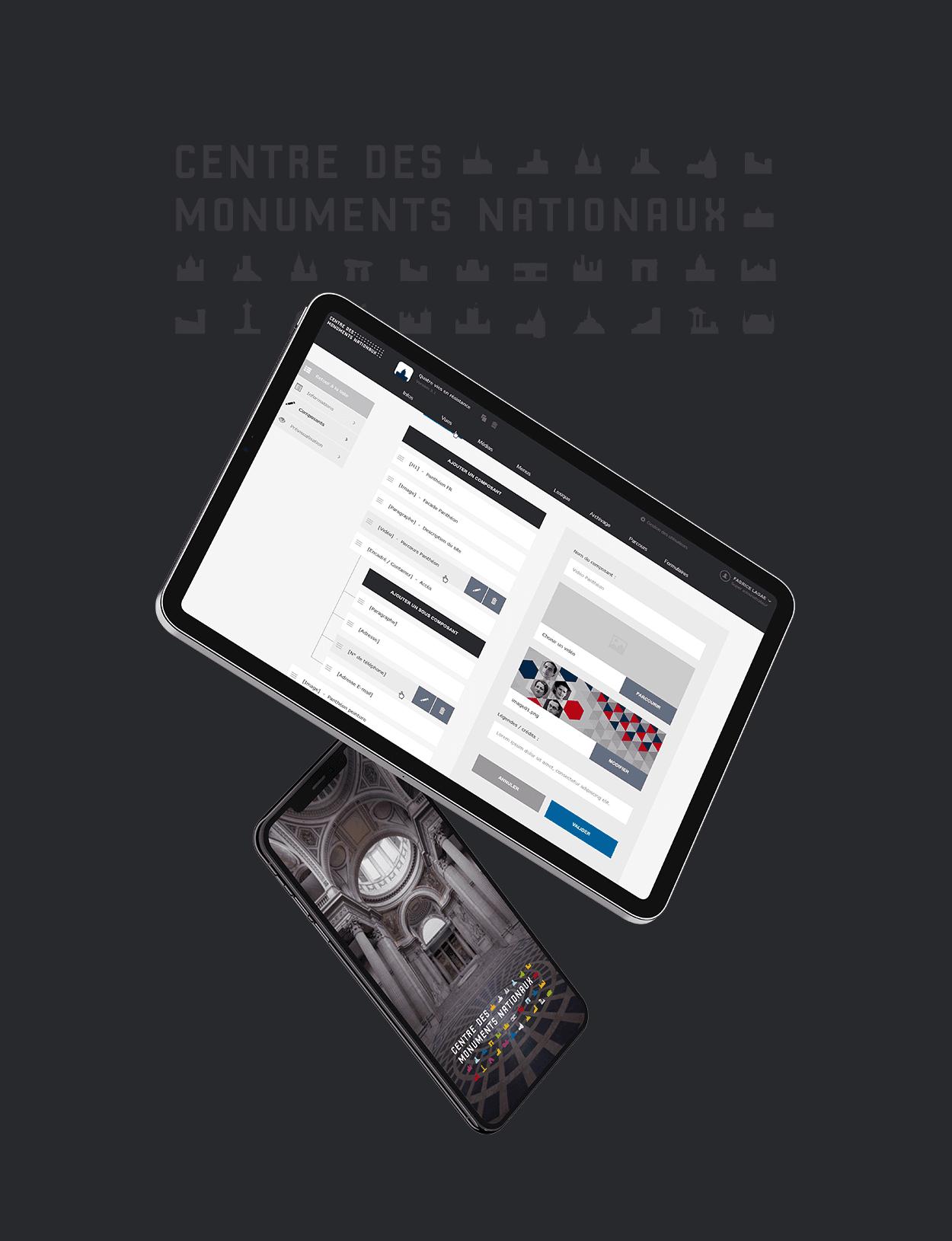 Centre des Monuments Nationaux par Agence Web Kernix