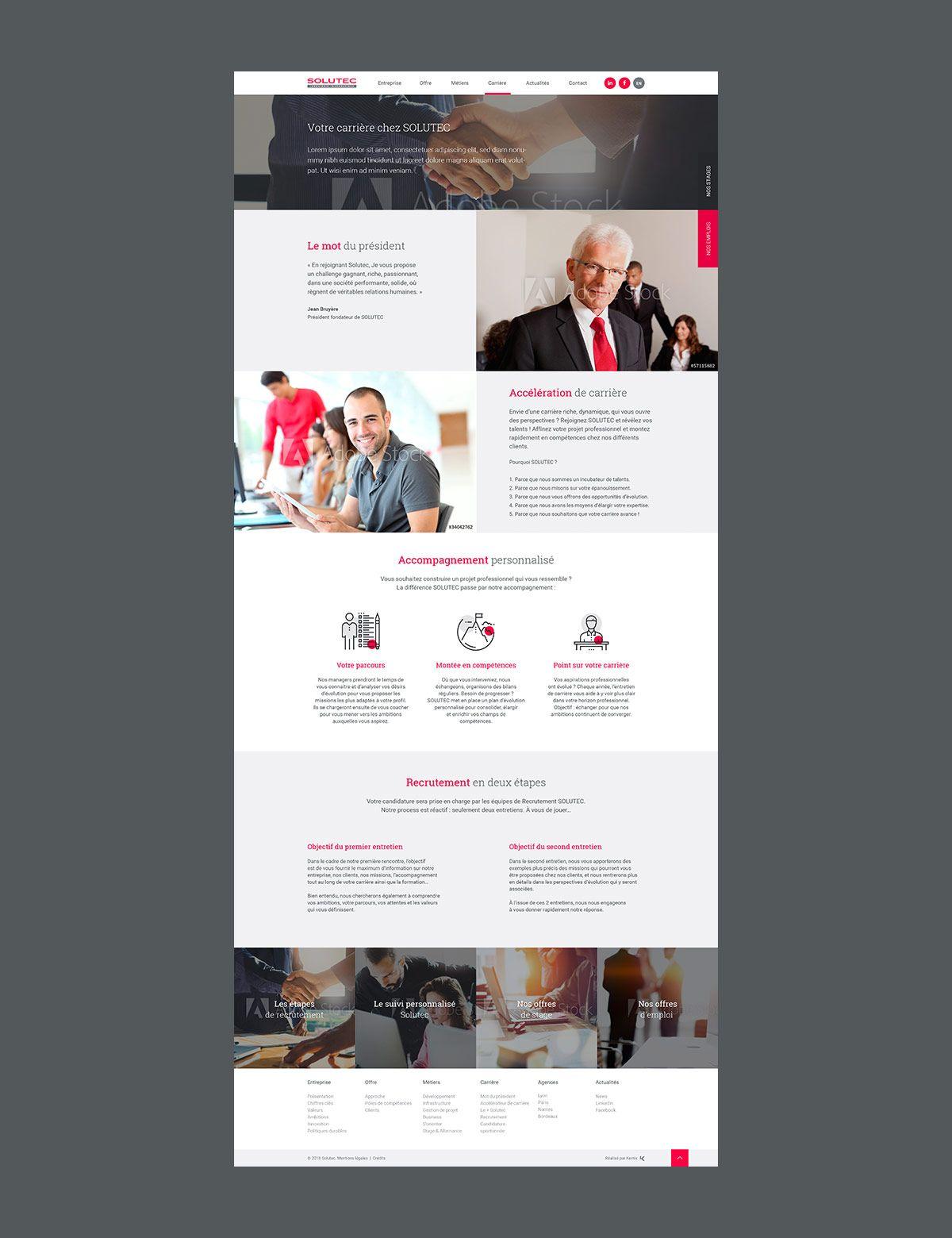 SOLUTEC par Agence Web Kernix